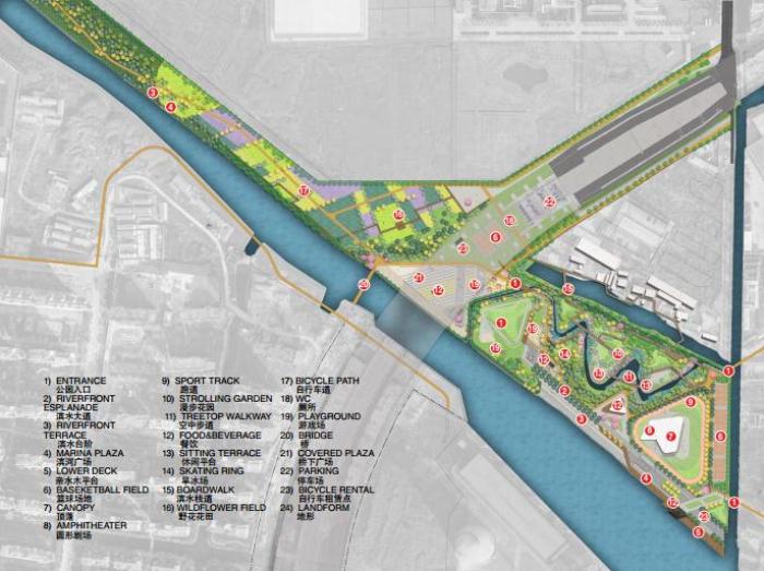 [江苏]城市廊道生态湿地核心公园系统城市规划景观设计