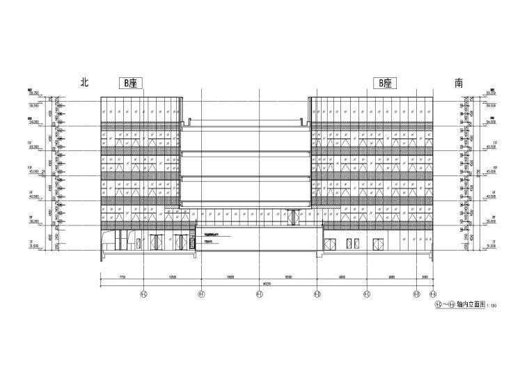 建筑轴立面图