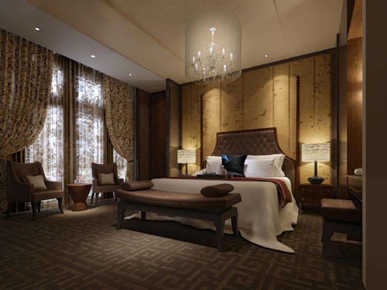 新古典卧室3D模型下载