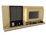 简单大气电视墙3D模型下载