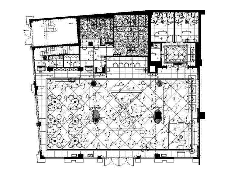 [湖南]某大型房地产售楼处施工图设计(附效果图)