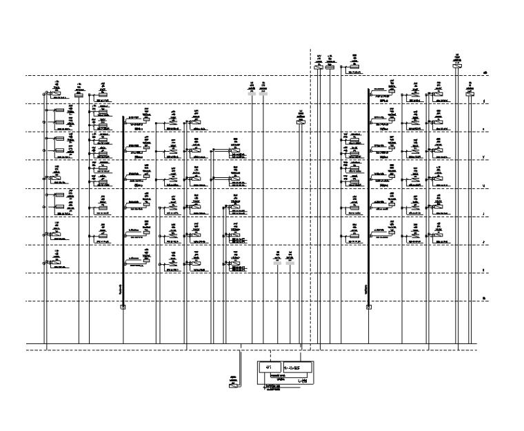 34万平商业办公楼强弱电电气施工图(电缆|变配电所负荷|防雷计算)-商业地上西南部干线系统图
