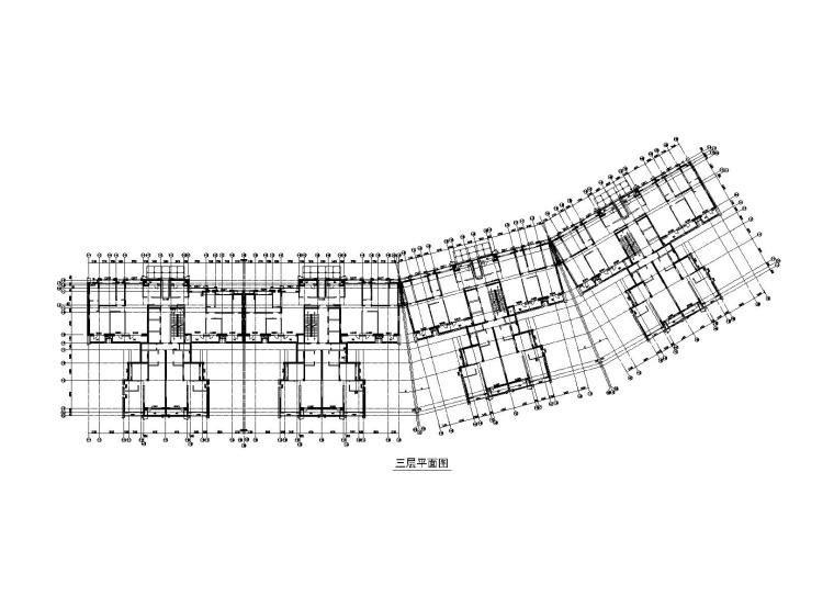 1#楼三层平面图