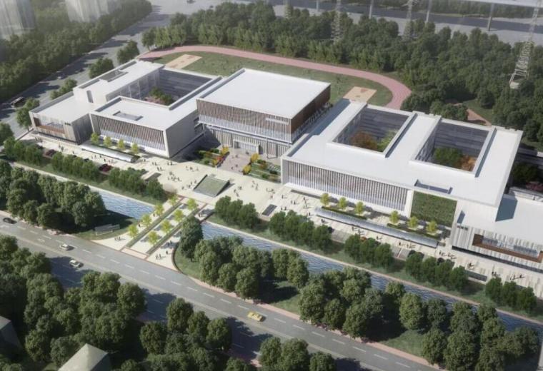[浙江]宁波江北艺术学校项目建筑模型设计——上海联创