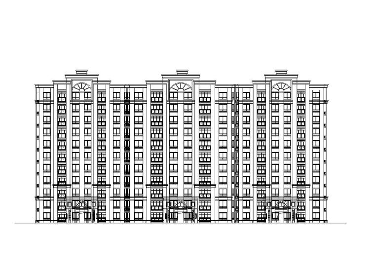 [江苏]特色欧陆风格建筑全套施工图设计(CAD)