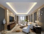优雅休闲客厅3D模型下载