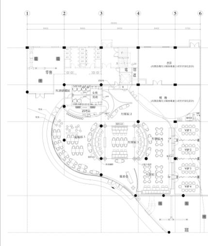 [无锡]现代风格西餐厅空间设计施工图(含效果图)
