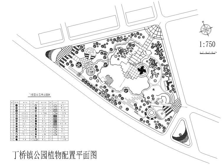 [浙江]杭州丁桥镇公园中标方案CAD平面图(含概算和psd方案文本)