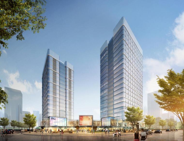 北京通州绿地中央广场建筑模型设计