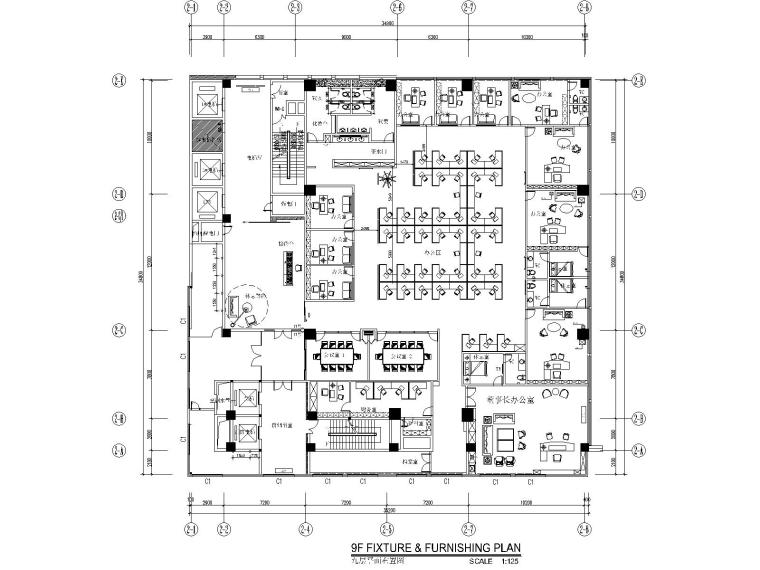 [福建]石狮市绿岛国际酒店改扩建工程精装修竣工图(附效果图)