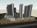 大型高层居住区建筑设计模型