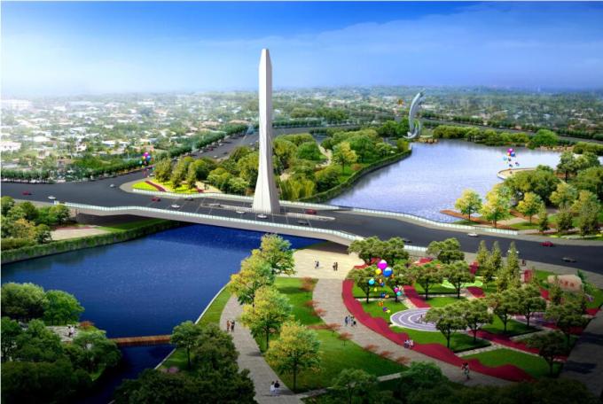 """[辽宁]""""一纵五横""""水系景观概念性规划设计_10"""