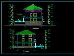 多层别墅平立面图