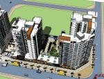 现代风格住宅规划设计精SU模型