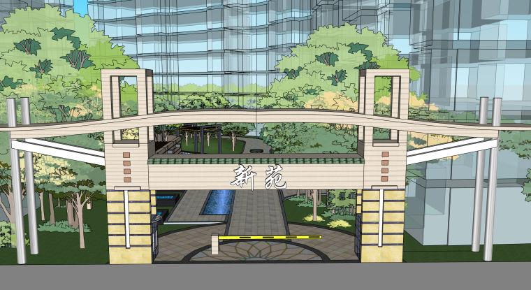 超精细!居住区建筑景观设计模型_2