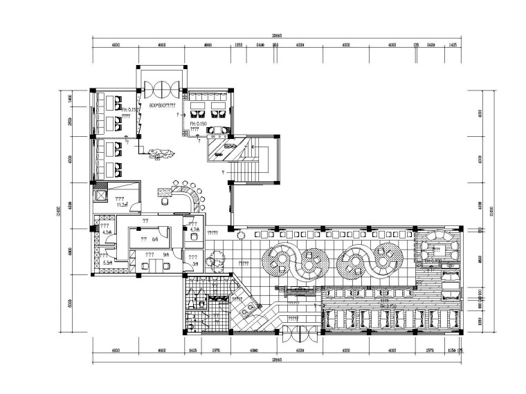 中式风格咖啡厅装修设计方案(附手绘效果图)
