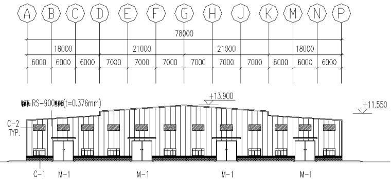 湖北圣龙单山双跨刚架结构施工图_3