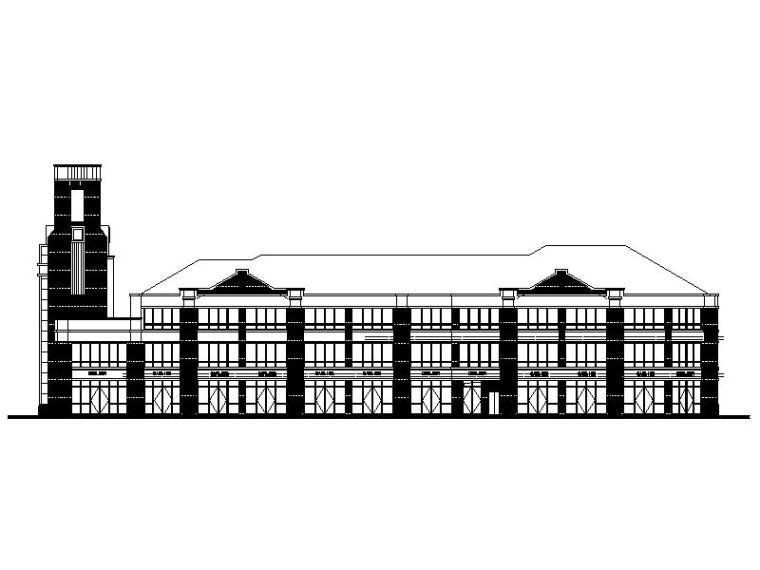 [福建]新古典风格住宅底层联排商铺建筑施工图