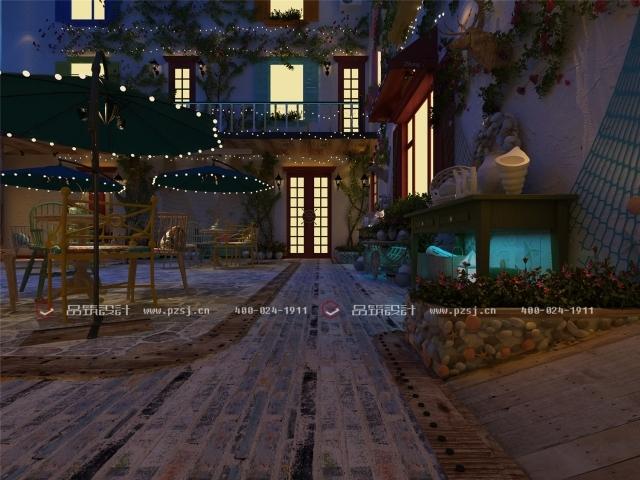 据说这是丹东最美的休闲度假民宿设计,快去瞧瞧-08内庭院夜.jpg