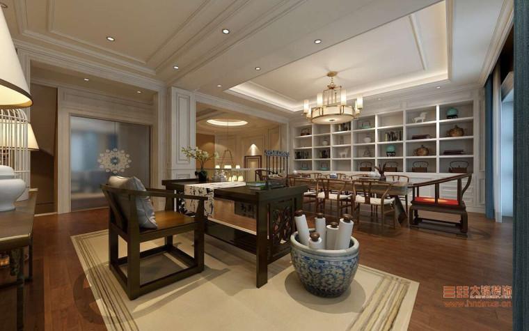 二层 茶室1-瀚海晴宇380平装修设计效果图第1张图片