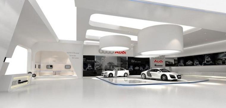 (原创)汽车4S店室内设计案例效果图-汽车4S店 (3)