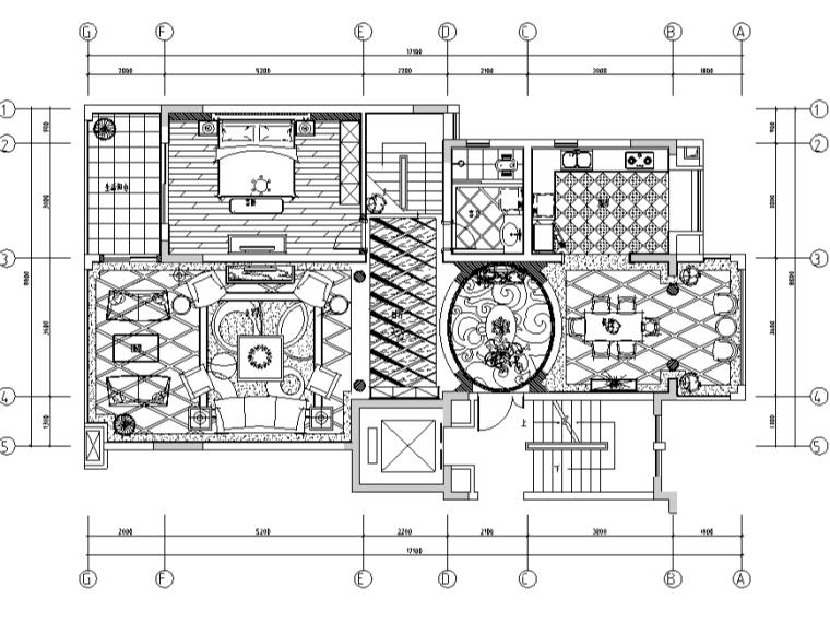 欧式低调奢华跃层别墅设计施工图(附效果图)