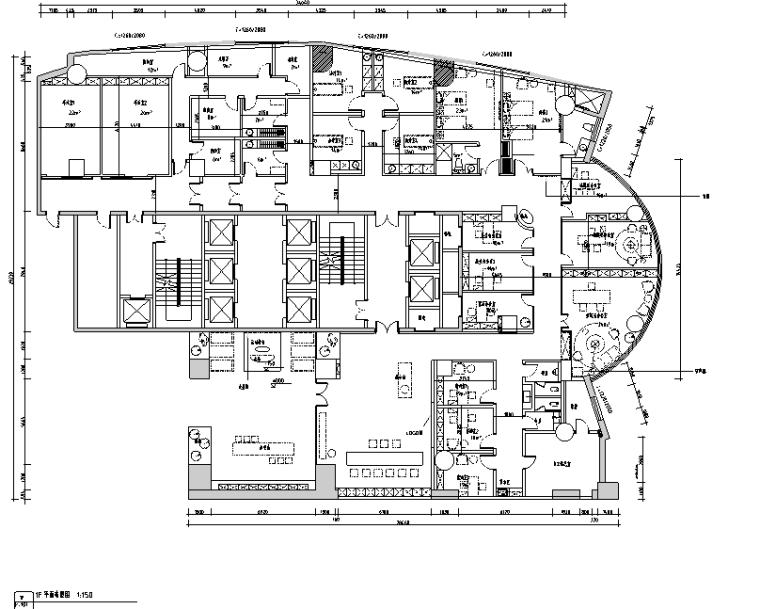 [新疆]现代风1300平米整形美容医院空间装修施工图(附效果图)