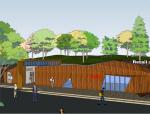 公园零售商业和公共卫生间SketchUp模型