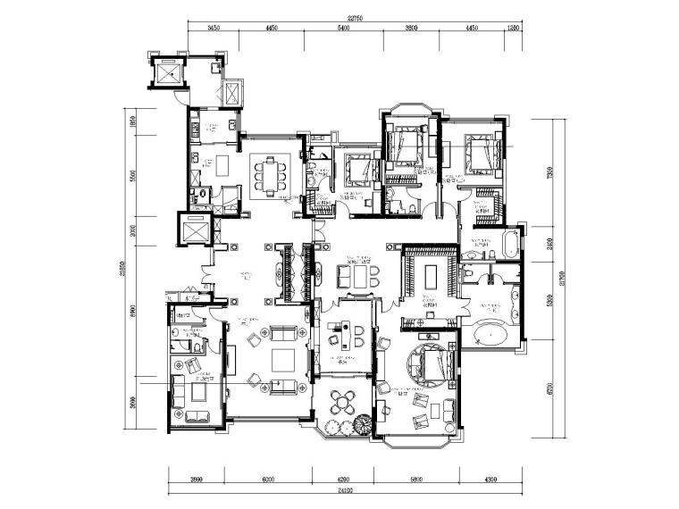 [吉林]欧式风格恒大华府样板房装修施工图(附效果图)