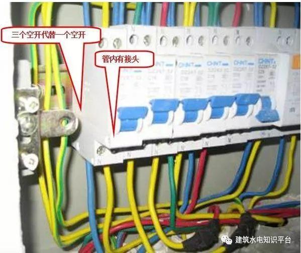 建筑电气工程施工质量通病和解决方法(现场施工图片解说)_26