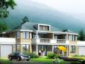 两户双联式别墅建筑设计文本(包含效果图+CAD)