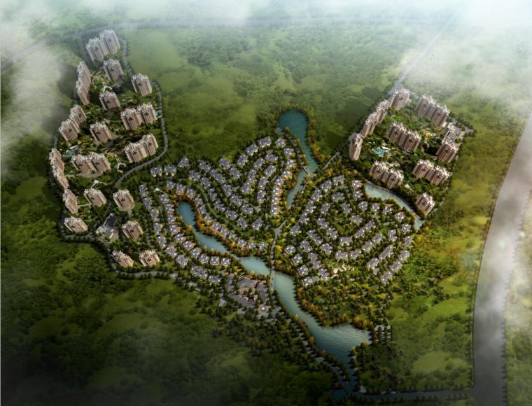 [广东]现代artdeco风格高层住宅及低层别墅建筑设计方案文本