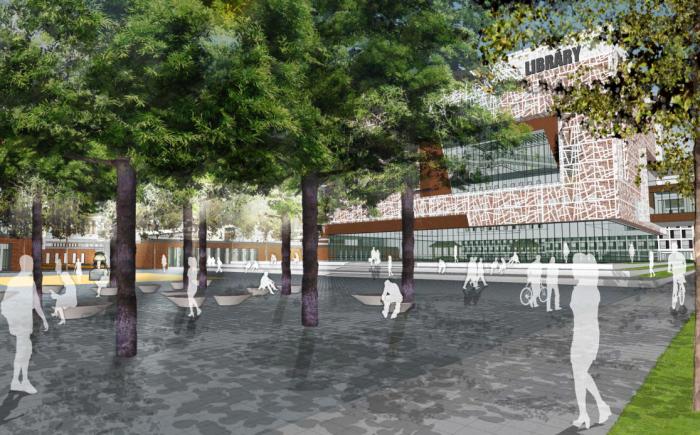 [江苏]传统精致园林高中校园景观规划设计方案_4
