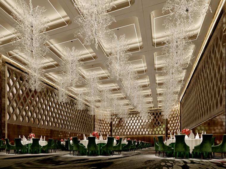 华丽宴会厅3D模型下载