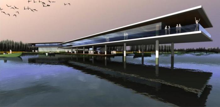 [上海]湿地台地田园景观农业观光园旅游度假村景观规划设计-景观效果图2