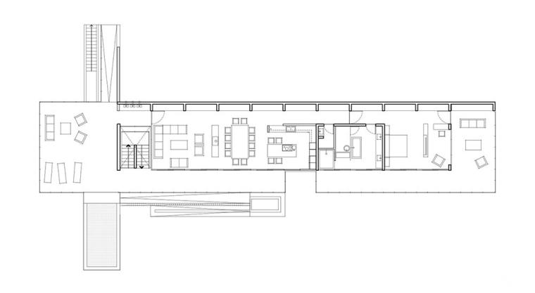 太平洋海岸边的粗犷住宅平面图 (17)
