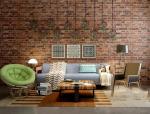 绿植、工业风格客厅3D模型