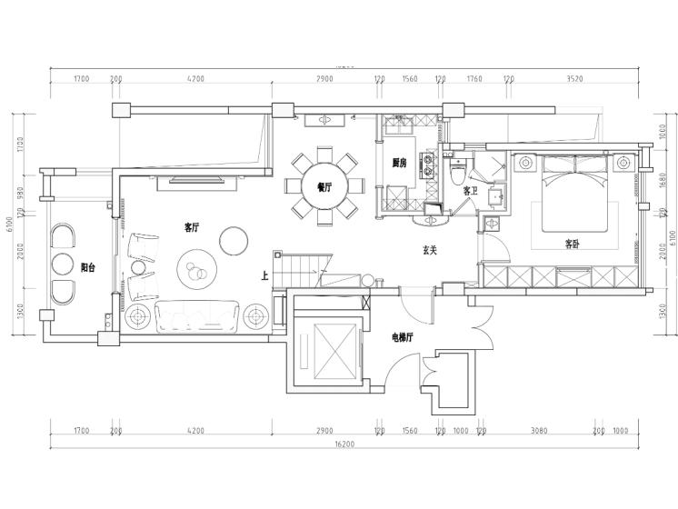 [广西]钦州丽景天下样板房家装设计完整施工图