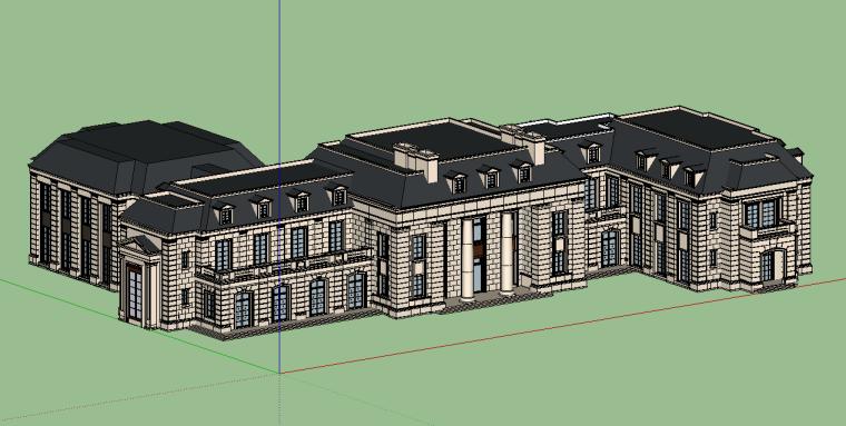 新古典会所建筑模型设计-场景四