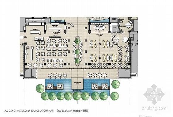 [青岛]连锁旅馆品牌高档五星级商务酒店设计方案平面图