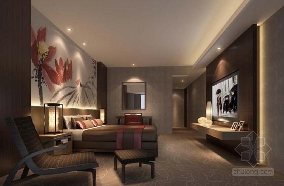 [深圳]花园洋房二期现代销售中心及样板房设计方案主人房效果图