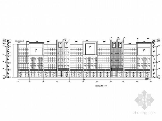 [陕西]四层框架结构居民区商业楼结构施工图(含建筑图)