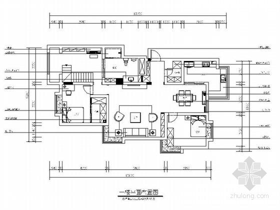 [山东]新奇混搭波普风格5室2厅210平两层别墅装修室内设计施工图(含效果)