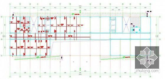 [北京]教育实习基地项目建设工程施工招标文件及投标文件(附全套图纸报价施组)-顶板配筋平面图