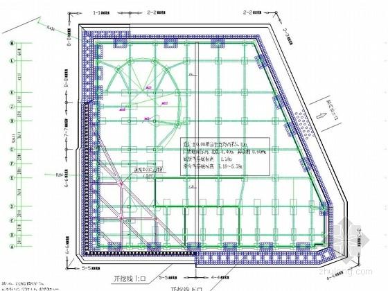[浙江]搅拌桩重力式挡墙结合复合土钉墙及一道水平混凝土内支撑基坑支护施工图