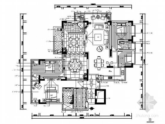 某古典欧式四室三厅室内装修图