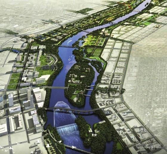 [美国]河滨城市修复景观设计方案-鸟瞰图