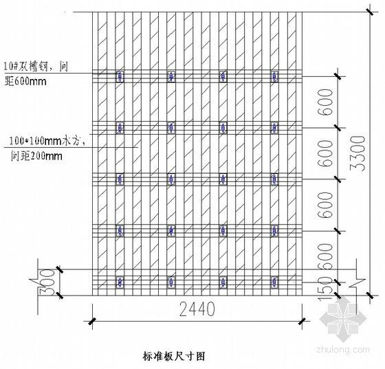 墙体单侧覆膜多层板模板施工方案(模板计算)