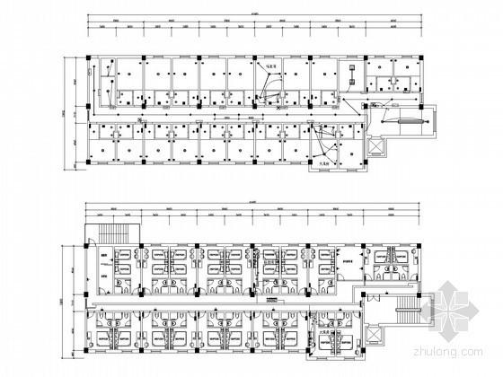 [青海]连锁酒店装饰电气施工图纸(含水暖 安装大样)