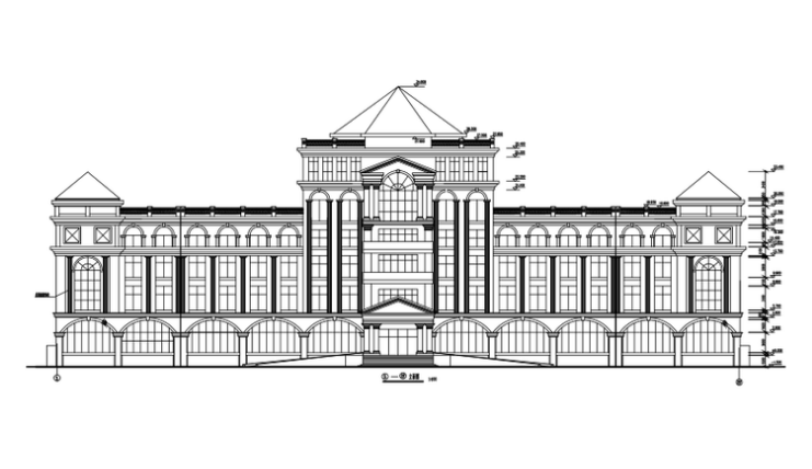 五层框架结构研究中心建筑施工图